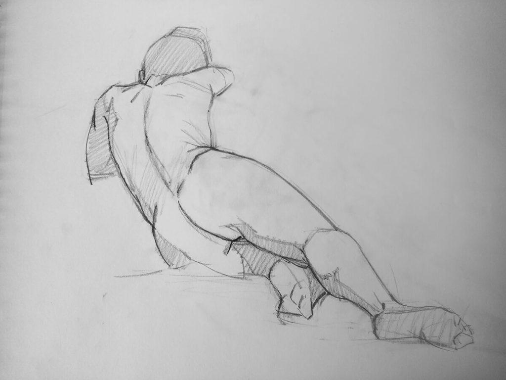 Dibujo boceto figura Hombre | Diego Catalan Amilivia Dibujante Pintor
