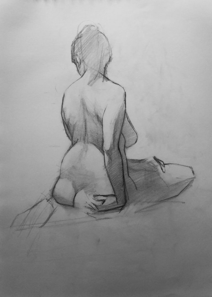 Dibujo boceto figura mujer | Diego Catalan Amilivia Dibujante Pintor